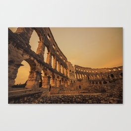 Pula Arena twlight  Canvas Print
