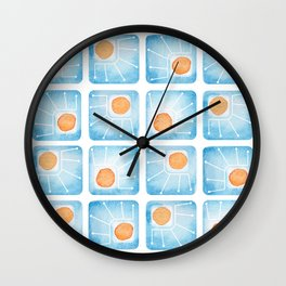 Watecolor Squares Wall Clock