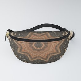 Pine Cone // Geometric Abstract Circular Mandala Forest Nature Tree Woods Woodland Wild Seeds Rustic Fanny Pack