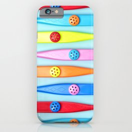 COLORFUL KAZOOS iPhone Case