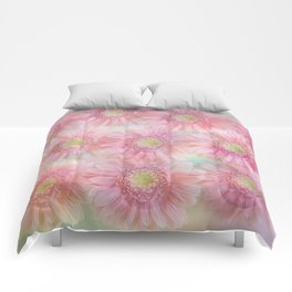 Pink daisies on a pastel background. Comforters