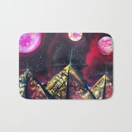Three Red Sisters Galaxy  Spray Painting Bath Mat