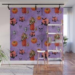 Vintage Halloween Pattern Wall Mural