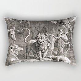 Le lion s'en allant en guerre Rectangular Pillow