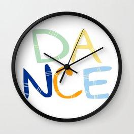 Dance Nursery Art Wall Clock