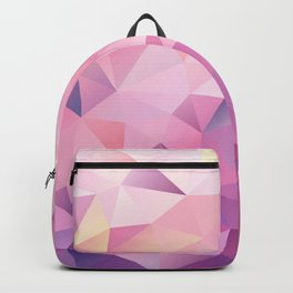polygonal pink pattern Backpack