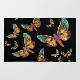"""Fantasy multicolored butterflies II"" Rug"