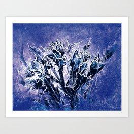 Thistle and Weeds_deep purple Art Print
