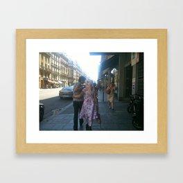 French Odd Couple Framed Art Print