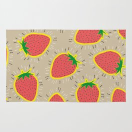ELECTRIC STRAWBERRIES Rug