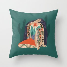Madre Tierra Throw Pillow