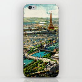 Paris 1900 Panorama iPhone Skin