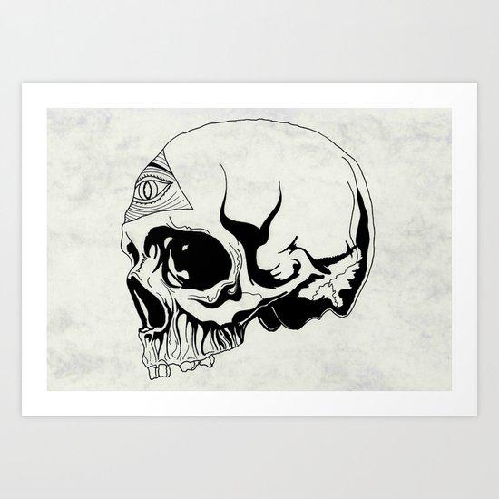 I've got an eye on you (black) Art Print