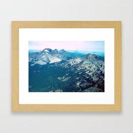 Three Sisters and Broken Top, Oregon Framed Art Print