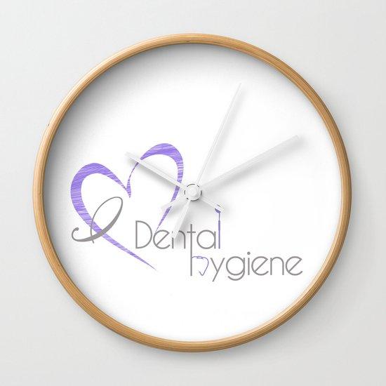 I Heart Dental Hygiene Wall Clock By Proboutique Society6