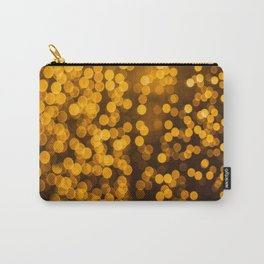 Gold Glitter Sparkle Bokeh Blurred Lights Shimmer Shiny Dots Spots Circles Out Of Focus Carry-All Pouch