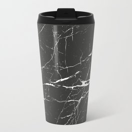 Black & White Marble Travel Mug