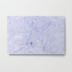 Marble - Distant Planet Blue Marble Metal Print