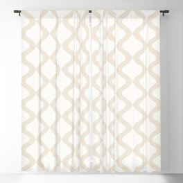 Alva Pattern - Coconut Blackout Curtain
