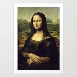 Leonardo Da Vinci -  Portrait De Mona Lisa Art Print
