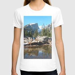Watercolor Landscape, Dream Lake 01, RMNP, Colorado T-shirt