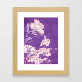 Japanese FLowers Purple Pink Framed Art Print
