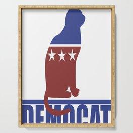 Democat democrat cat Serving Tray