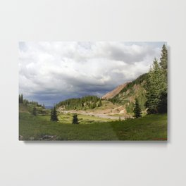 Red Mountain Pass, elevation 11,018 feet, on the Million Dollar Highway Metal Print