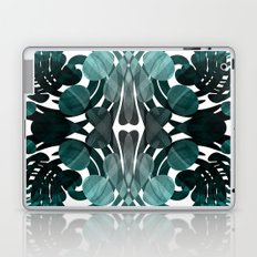 Abstract black and teal  Laptop & iPad Skin