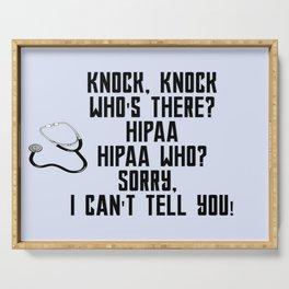HIPAA Serving Tray