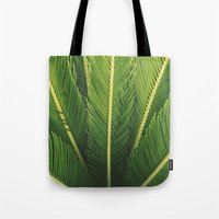 palm tree Tote Bags featuring palm tree by Life Through the Lens