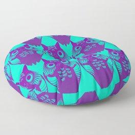 Pollo Cyan Purple Floor Pillow