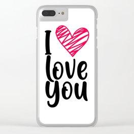 I love you 1 Clear iPhone Case