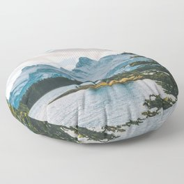 Two Jack Lake & Mt. Rundle Floor Pillow