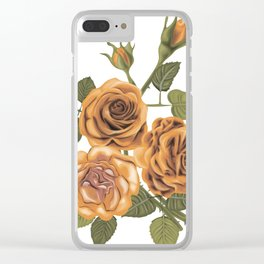 Vintage roses Clear iPhone Case