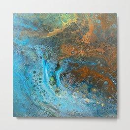 Blue Rust Acrylic Metal Print