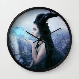 Maleficent - don't believe the fairytale Wall Clock