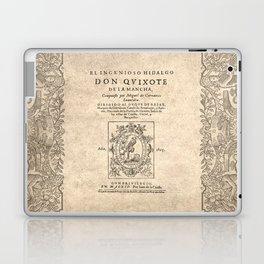Cervantes. Don Quijote, 1605. Laptop & iPad Skin