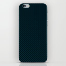 Black and Ocean Depths Polka Dots iPhone Skin