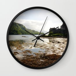 Beautiful scenery in the Eilean Donan Castle, Scotland Wall Clock