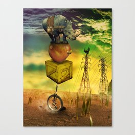 Freewheeling field maneuvers Canvas Print