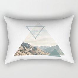 Mountain with Shapes Rectangular Pillow
