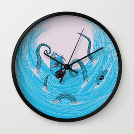 Kraken's Whirlpool Wall Clock