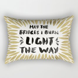 Bridges Burned – Gold Rectangular Pillow