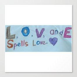 Sami's Art (age 7) Canvas Print
