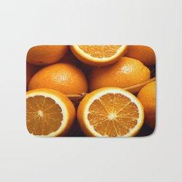 Oranges Piled Up Bath Mat