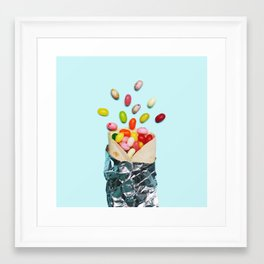 Jelly Bean Burrito Framed Art Print