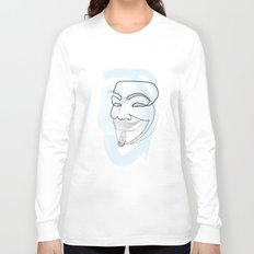 One line mask: V Long Sleeve T-shirt