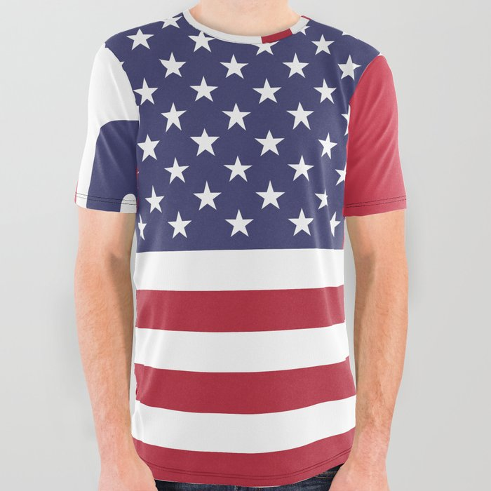 4th_of_July_Happy_Independence_Day_Patriotic_American_flag_&_stars_All_Over_Graphic_Tee_by_SOFIARTMEDIA__Small