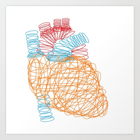 anatomical heart art print by media profunda | society6, Human body